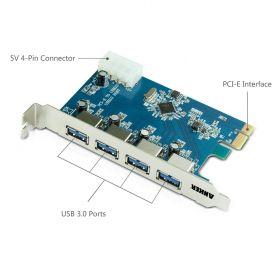 Tarjeta USB 3.0 PCI-E Express con 4 puertos