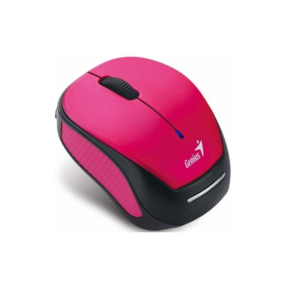 Mouse Genius Inalámbrico Recargable Micro Traveller USB 9000R Rosado