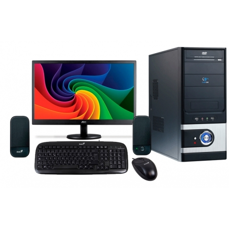 "Combo 1 Computador Intel Celeron Dual Core 2.41Ghz, 2Gb DDR3, 500gb, 16"" LED"