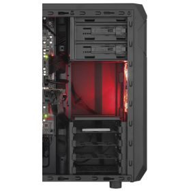 CASE GAMING CORSAIR CARBIDE SPEC 01 RED LED MID TOWER
