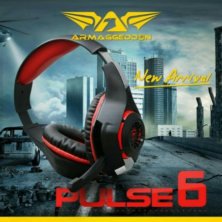 Headset Gamer Audífono - micrófono 5.1 Armaggeddon, Pulse 6