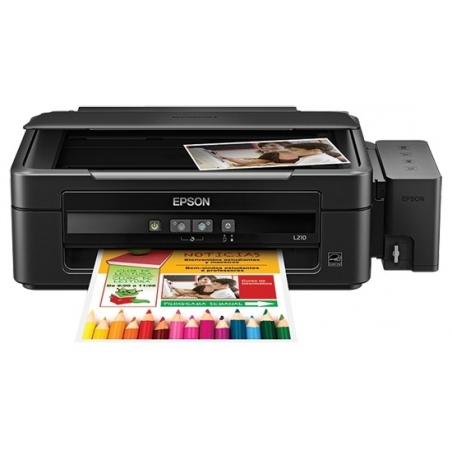 Impresora Epson L380 Multifuncional EcoTank® con Sistema Original de Tinta continua, Imprime, Escanea y Copia