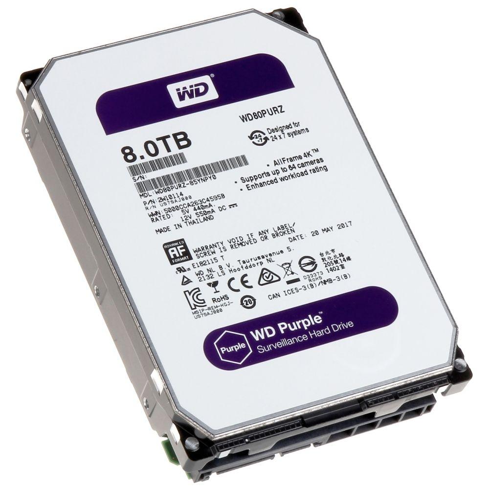 "Disco Duro Western Digital 8Tb 3.5"" Sata Purple Cache 128mb"